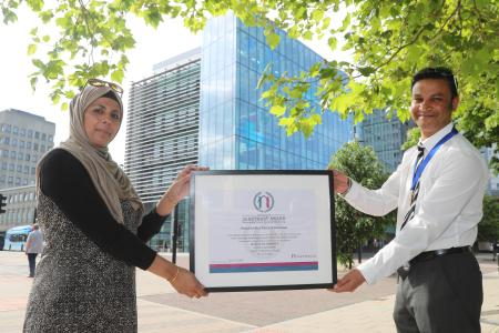 Presentation of Library of Sanctuary award