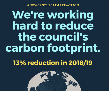 We're working hard to reduce the council's carbon footprint.