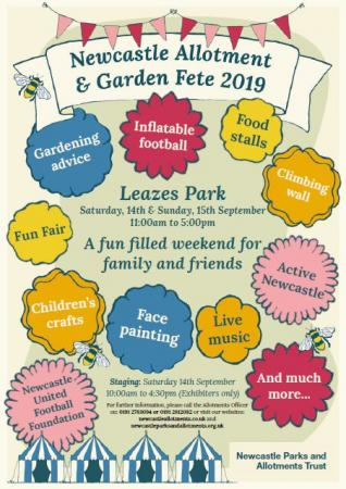 Allotment and garden fete poster