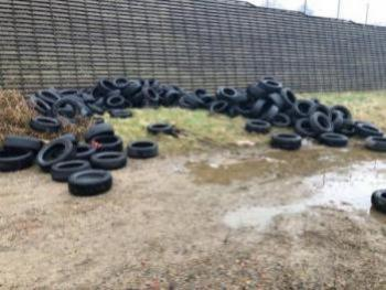 fly tip tyres