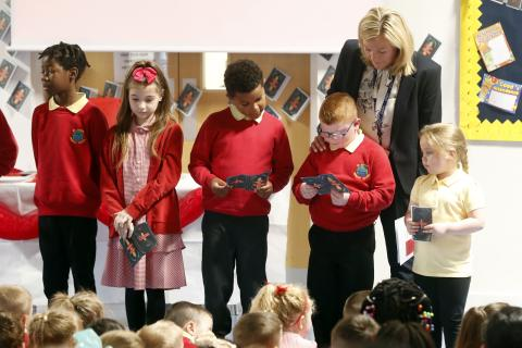 Pupils at St John's Primary School