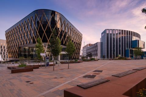 The Fredrick Douglas Centre and National Innovation Centre for Data on Newcastle Helix  (Photo credit: Gillespies)