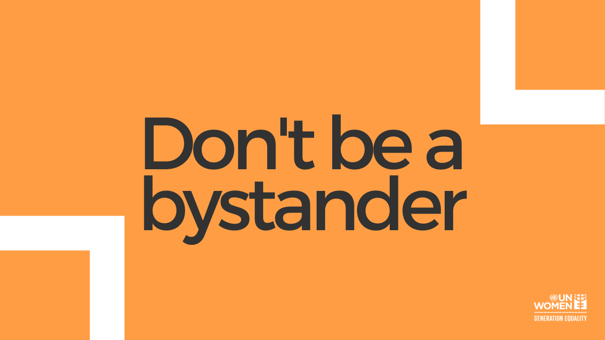 Don't be a bystander