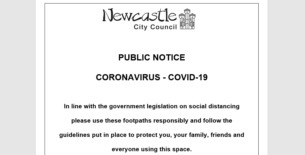 Town Moor Warning Newcastle City Council