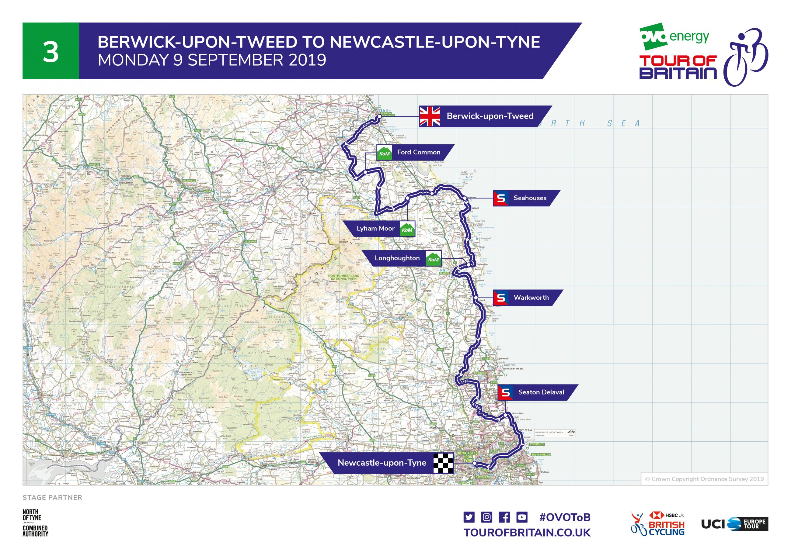 Stage of Three of the OVO Energy Tour of Britain
