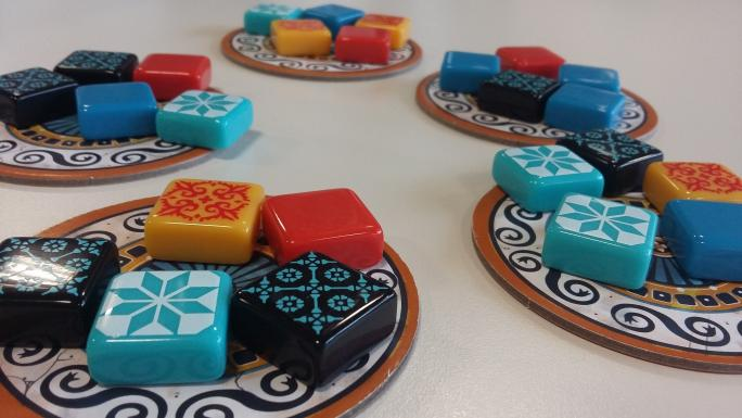 Azul board game pieces