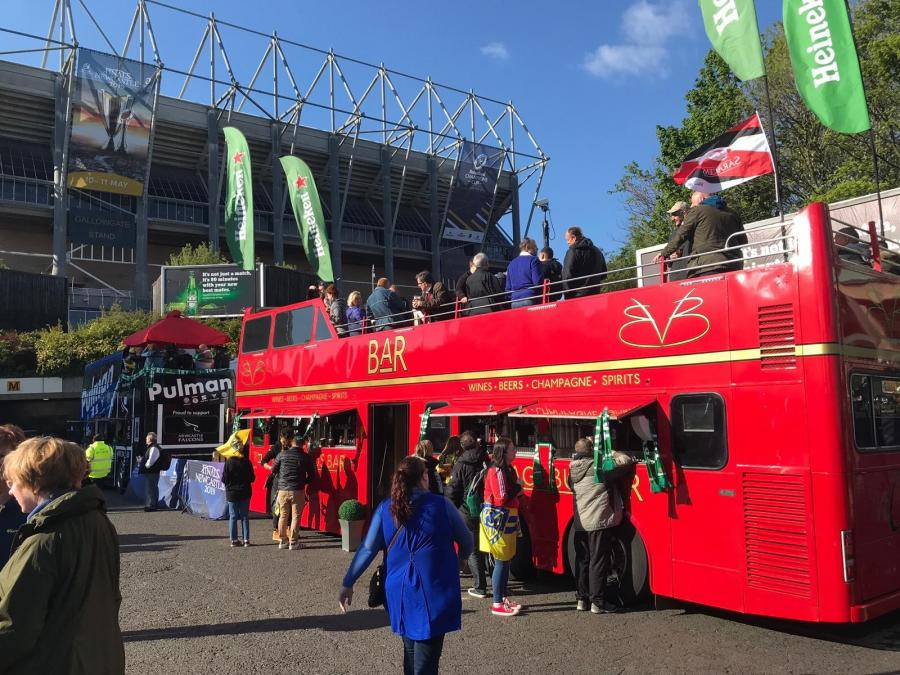 The Fan Zone at St James' Park during the European Finals weekend