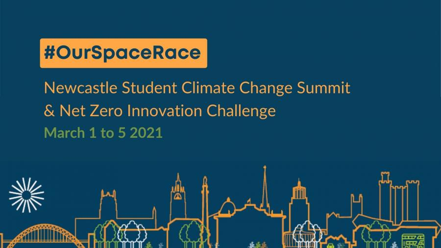 Newcastle Student Climate Change Conference and Net Zero Innovation Challenge title card