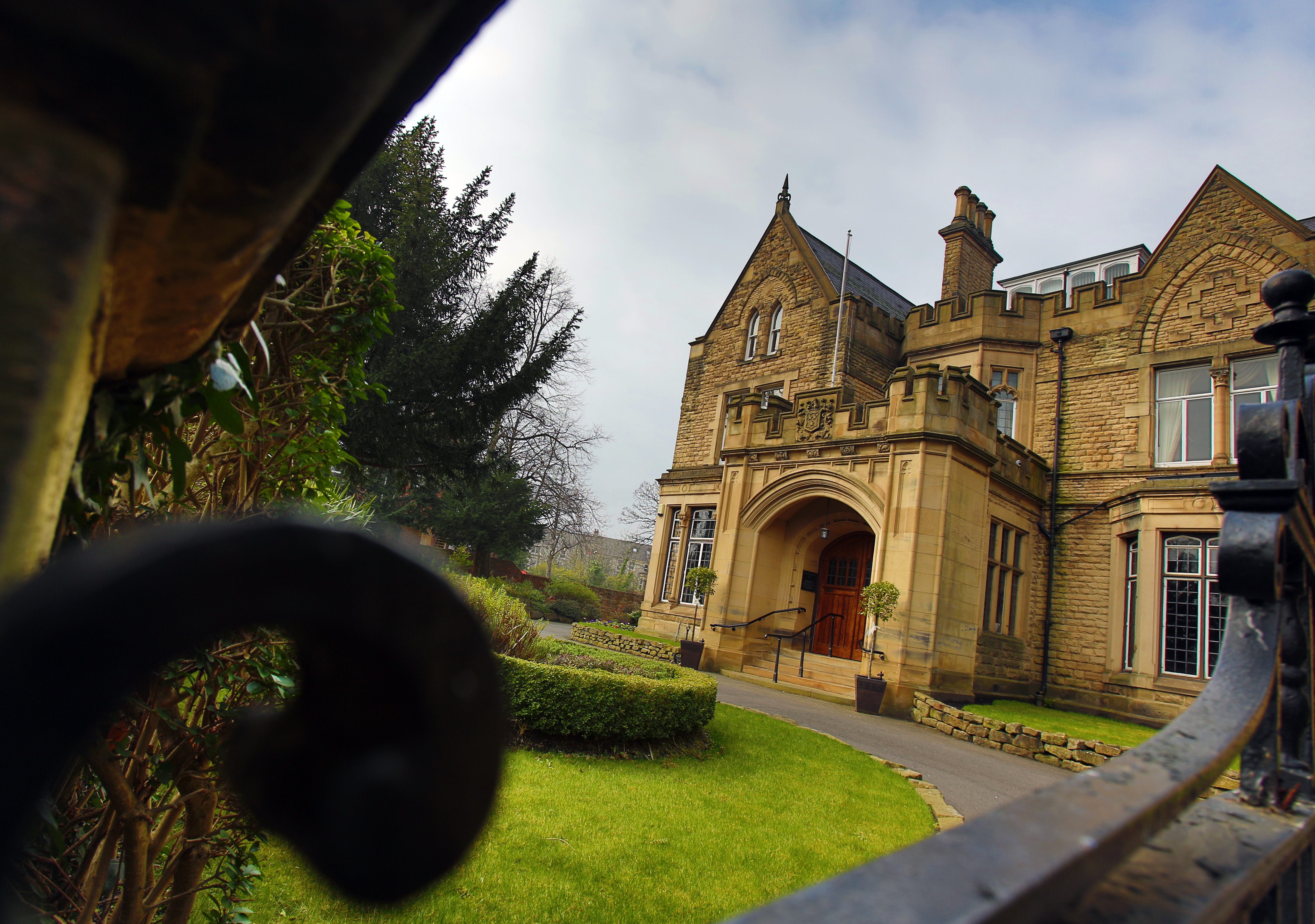Mansion house entrance
